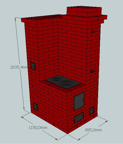 Проект№ 4 Отопительно-варочная печь