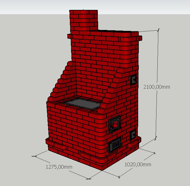 Проект №7 Отопительно-варочная печь